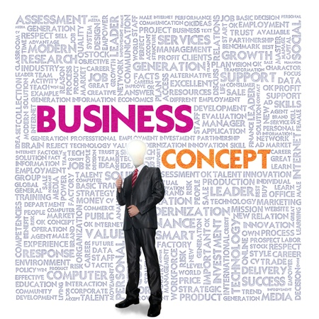 Business word cloud for business and finance concept, Business Meeting photo