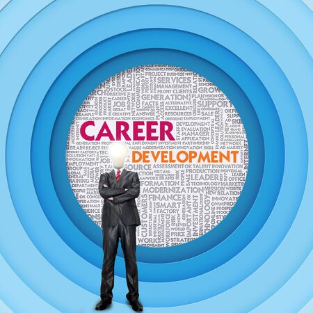 Business word cloud for business concept, Career Development photo