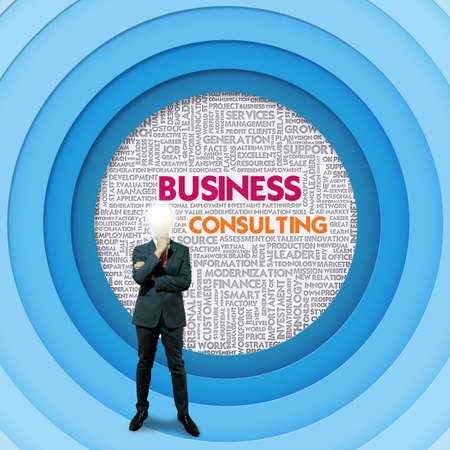 Business word cloud for business and finance concept, Business Consulting photo