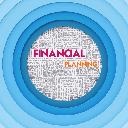 Business word cloud for business concept, FInancial Concept photo