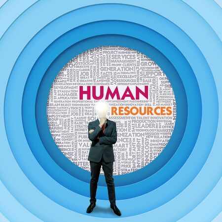 Business word cloud for business concept, Human resource photo
