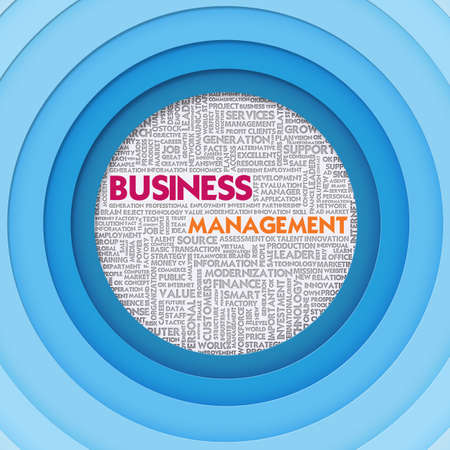 Business word cloud for business and finance concept, Business Management photo