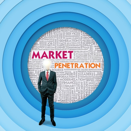 Business word cloud for business concept, Market Penetration photo