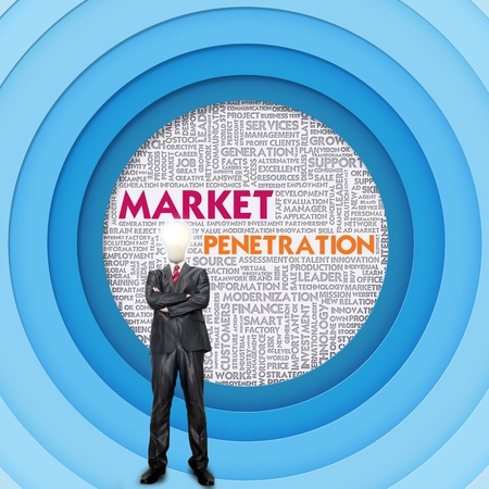 leverage: Business word cloud for business concept, Market Penetration