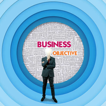 businessplan: Business word cloud for business and finance concept, Business Objective