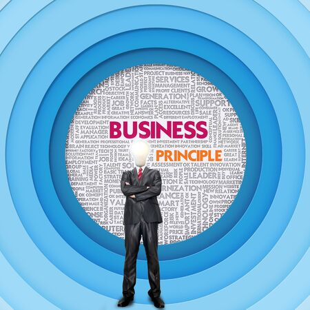 principle: Business word cloud for business concept, Business Principle Stock Photo