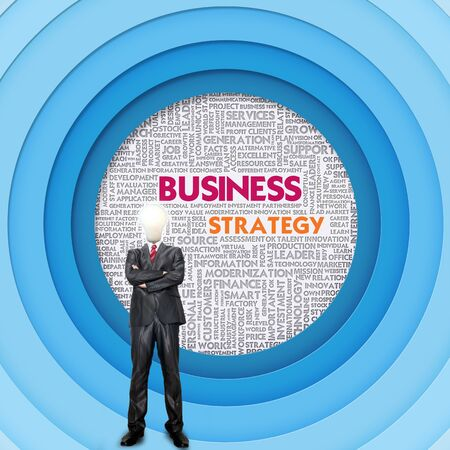 Business word cloud for business and finance concept, Business Strategy photo
