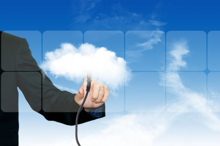 Colud computing concept on the blue sky Stock Photo - 14645578