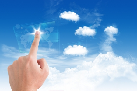 Colud computing concept on the blue sky Stock Photo - 14645604