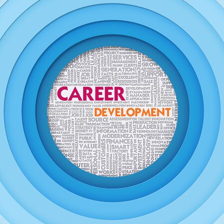 self development: Business word cloud for business concept, Career Development