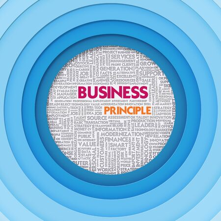 Business word cloud for business concept, Business Principle Stock Photo - 15295474