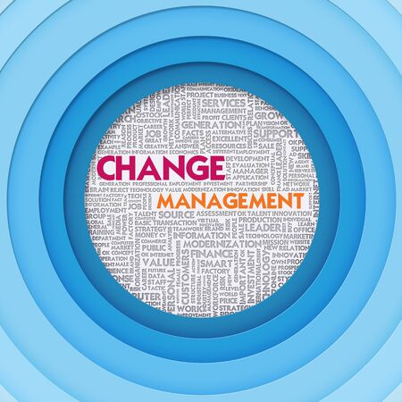 Business word cloud for business concept, Change Management photo