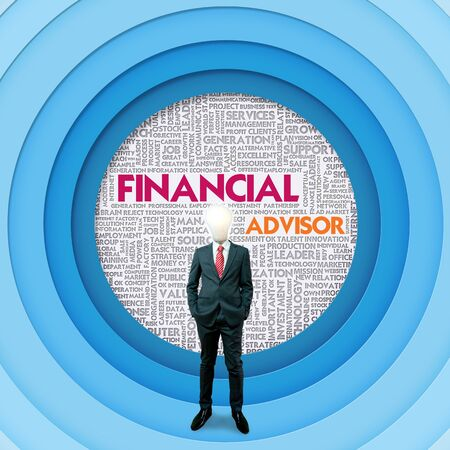 Business word cloud for business concept, Financial Advisor photo