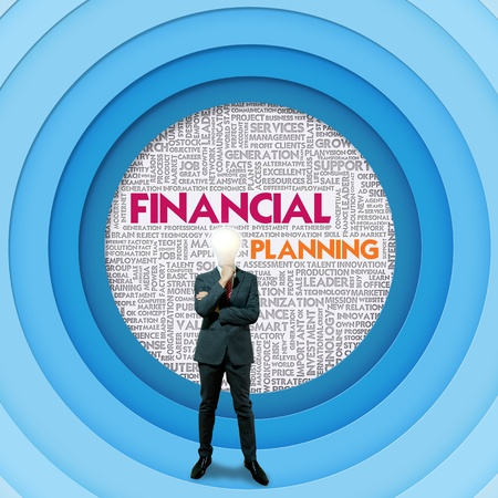 Business word cloud for business concept, Financial Planning photo