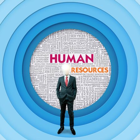 personal growth: Business word cloud for business concept, Human Resources