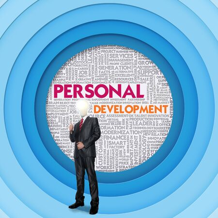 personal development: Business word cloud for business concept, Personal Development