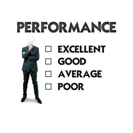 evaluating: Business man and employee evaluation form