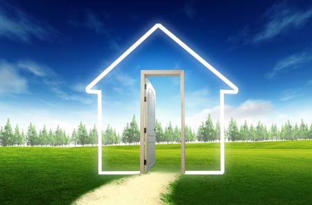 Door open to the new world, for environmental concept and\ idea