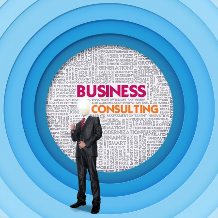 stakeholders: Business word cloud for business concept, Business Consulting Stock Photo