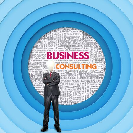 internal revenue service: Business word cloud for business concept, Business Consulting Stock Photo