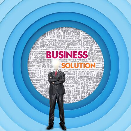 Business word cloud for business concept, Business Solution photo