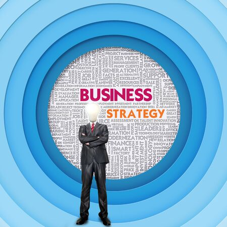 Business word cloud for business concept, Business Strategy photo