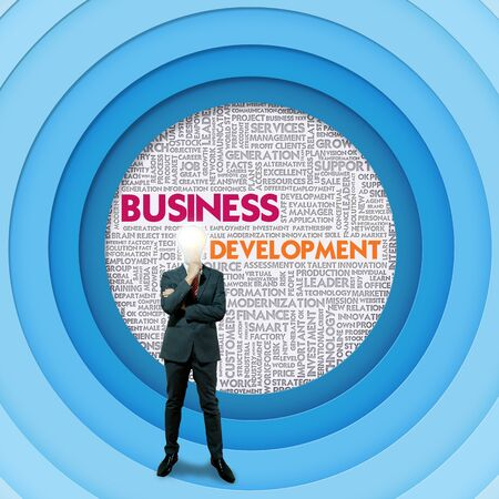 Business word cloud for business concept, Business Development photo
