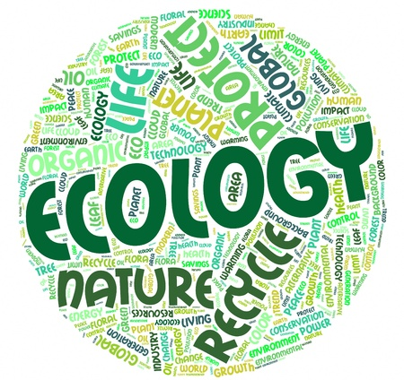 forest conservation: Word cloud Eco concept