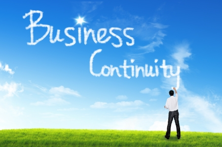 Cloud for business concept, Business Continuity Stock Photo - 15839537