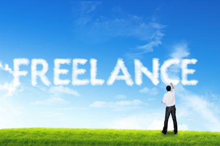 freelance: Cloud for business concept, Freelance
