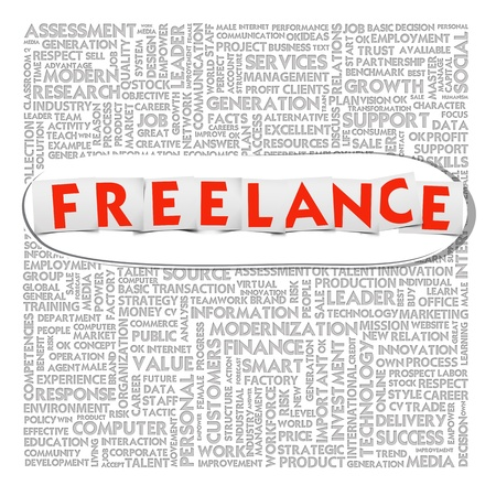 freelance: Business word cloud for business and finance concept, Freelance