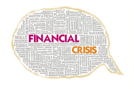 loss leader: Wordcloud on texture paper speech bubble, Financial concept