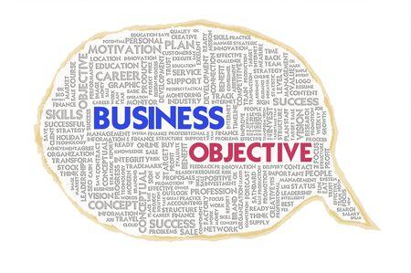 Wordcloud on texture paper speech bubble, Business concept Stock Photo - 16166201