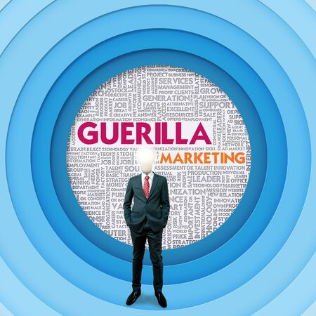 Business word cloud for business and finance concept, Guerilla marketing Stock Photo - 16394843