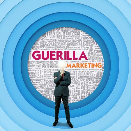 Business word cloud for business and finance concept, Guerilla marketing Stock Photo - 16394863