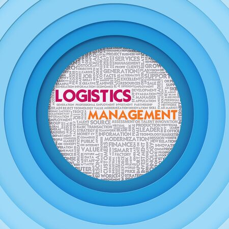 coordination: Business word cloud for business and finance concept, Logistics Management