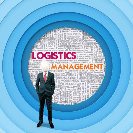 coordinate: Business word cloud for business and finance concept, Logistics Management