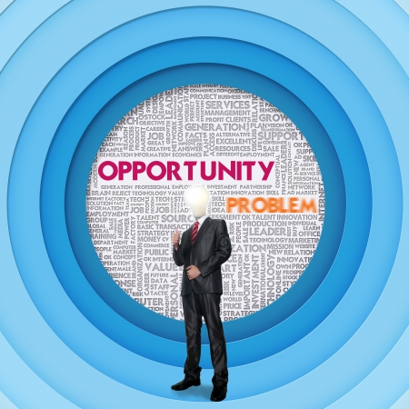 Business word cloud for business concept, Opportunity photo