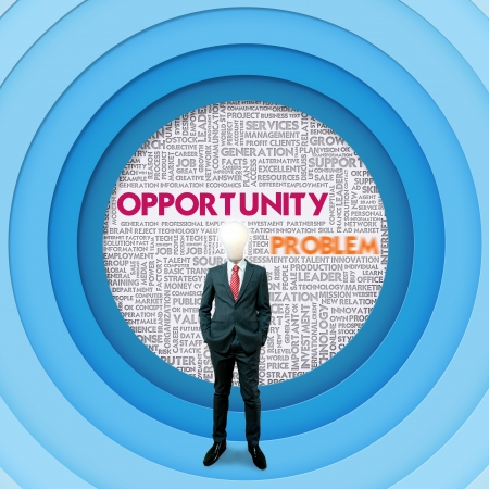 Business word cloud for business concept, Opportunity Stock Photo - 16394853