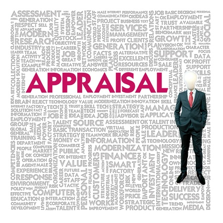 Business word cloud for business and finance concept, Appraisal photo
