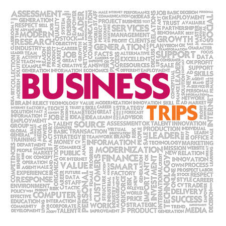 Business word cloud for business and finance concept, Business Trips photo