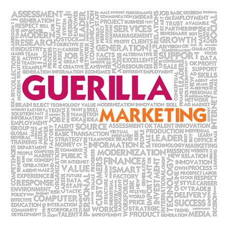 Business word cloud for business and finance concept, Guerilla marketing Stock Photo - 16394873