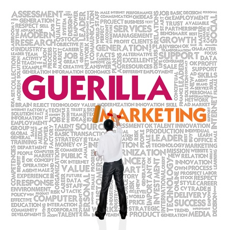 guerilla: Business word cloud for business and finance concept, Guerilla marketing