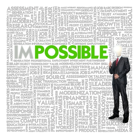feasible: Business word cloud for business and finance concept, Opportunity Stock Photo