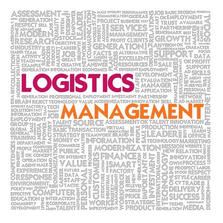 outbound: Business word cloud for business and finance concept, Logistics management