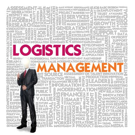 optimal: Business word cloud for business and finance concept, Logistics management
