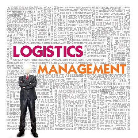 Business word cloud for business and finance concept, Logistics management photo