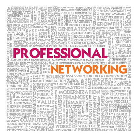Business word cloud for business and finance concept, Professional Networking Stock Photo - 16394899