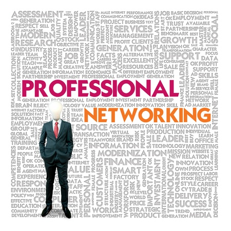 Business word cloud for business and finance concept, Professional Networking photo