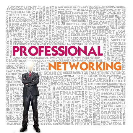 Business word cloud for business and finance concept, Professional Networking Stock Photo - 16394940